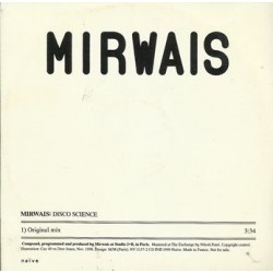 Mirwais ‎- Disco Science - CD Single Promo