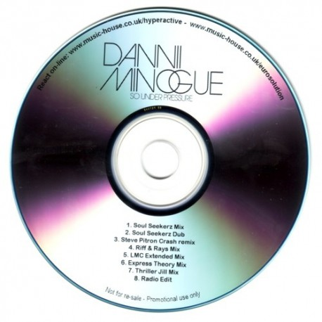 Dannii Minogue - So Under Pressure - CDr Promo Single