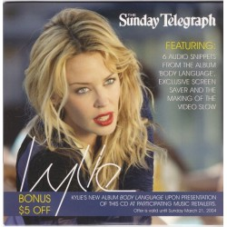 Kylie Minogue - The Sunday Telegraph: Body Language - CD Sampler Promo