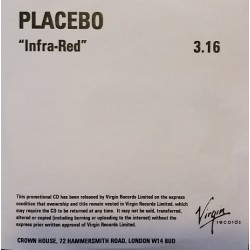 Placebo ‎- Infra-Red - CDr Single Promo