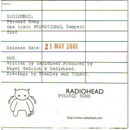 Radiohead - Pyramid Song - CD Single Promo
