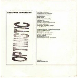 Radiohead - Optimistic - CD Single Promo