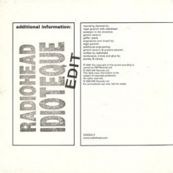 Radiohead - Idioteque - CD Single Promo