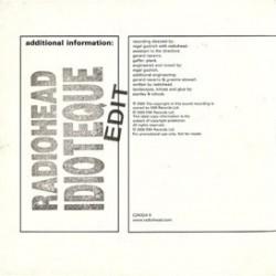 Radiohead - Idioteque - CD Single Promo