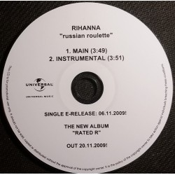 Rihanna ‎- Russian Roulette - CDr Single Promo