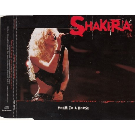 Shakira – Poem To A Horse - CD Maxi Single Promo