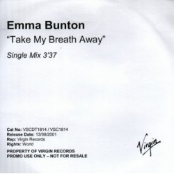 Emma Bunton ‎– Take My Breath Away - CDr Promo Single
