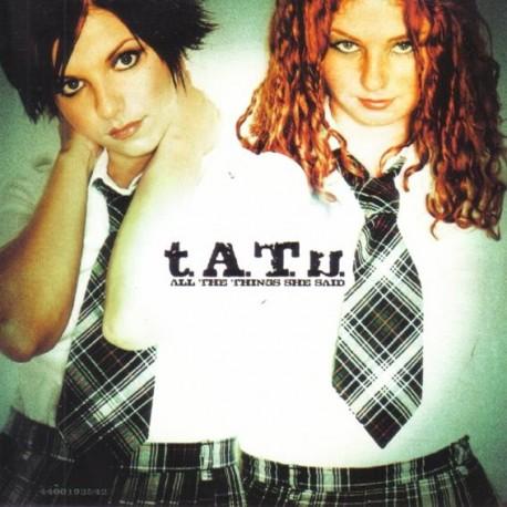 t.A.T.u. – All The Things She Said - CD Single Promo