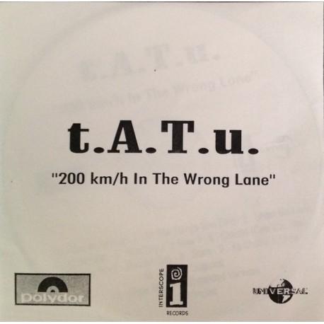 t.A.T.u. – 200 Km/h In The Wrong Lane - CDr Album Promo