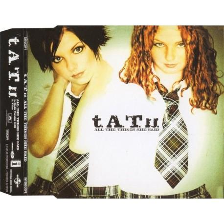 t.A.T.u. – All The Things She Said - CD Maxi Single Promo