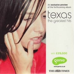 Texas ‎– The Greatest Hits - An Exclusive Preview Of The Forthcoming Album - CD Sampler Promo