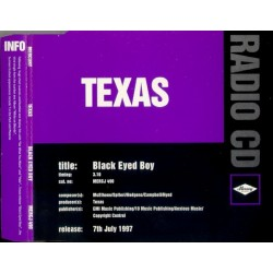 Texas ‎– Black Eyed Boy - CD Maxi Single Promo