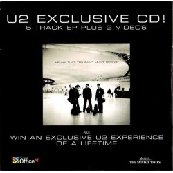 U2 ‎– Exclusive CD Sunday Times - CD Single Promo