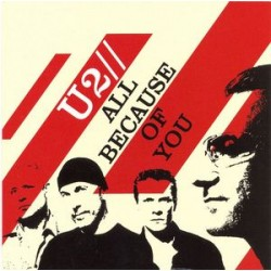 U2 ‎– All Because Of You - CD Single