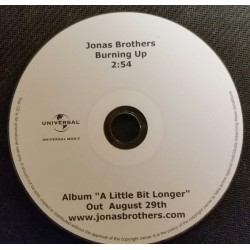 Jonas Brothers - Burning Up - CDr Single Promo