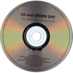 U2 And Green Day ‎– The Saints Are Coming - CD Single Promo