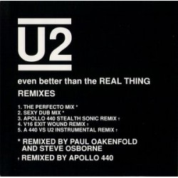 U2 ‎– Even Better Than The Real Thing (Remixes) - CD Maxi Single