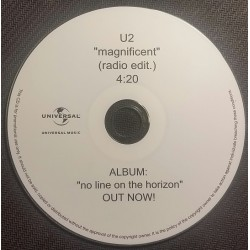 U2 - Magnificent - CDr Single Promo