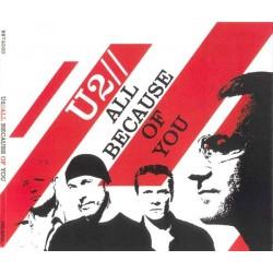 U2 – All Because Of You - CD Maxi Single Australia