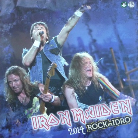 Iron Maiden ‎– 2014 Rock In Idro - Double LP Vinyl - Coloured Records