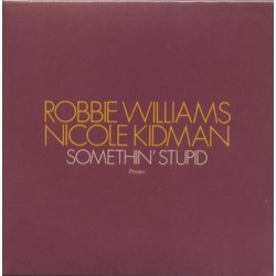 Robbie Williams And Nicole Kidman ‎– Somethin' Stupid - CD Single Promo