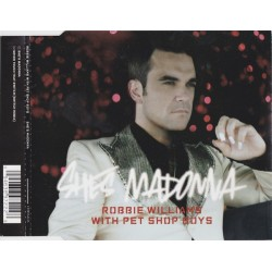 Robbie Williams With Pet Shop Boys ‎– She's Madonna - CD Maxi Single