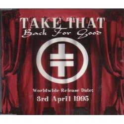 Take That – Back For Good - CD Maxi Single Promo