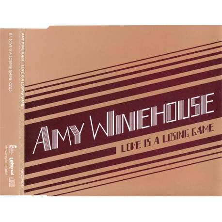 Amy Winehouse ‎– Love Is A Losing Game - CD Maxi Single Promo