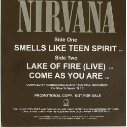 Nirvana ‎– Smells Like Teen Spirit - Maxi Vlnyl Promo