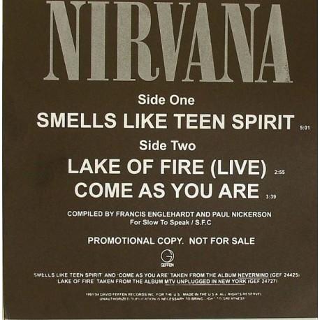 Nirvana – Smells Like Teen Spirit - Maxi Vlnyl Promo