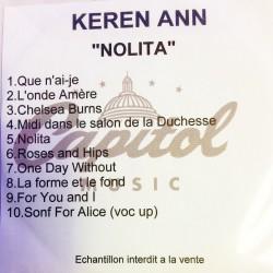 Keren Ann - Nolita - CDr Album Promo France