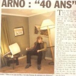 Arno - 40 ans - CD Single Promo