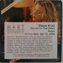 Diana Krall ‎– The Girl In The Other Room - CD Sampler Promo 4 Tracks