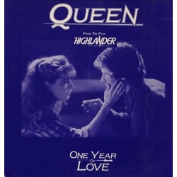 Queen ‎– One Year Of Love - Highlander Soundtrack - Maxi Vinyl - Promo