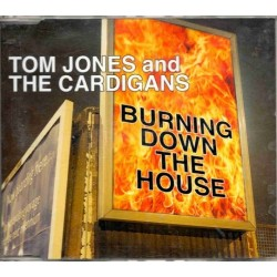 Tom Jones And The Cardigans ‎– Burning Down The House - CD Maxi Single Promo