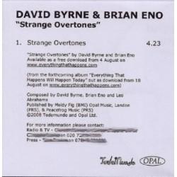 David Byrne & Brian Eno – Strange Overtones - CDr Single Promo