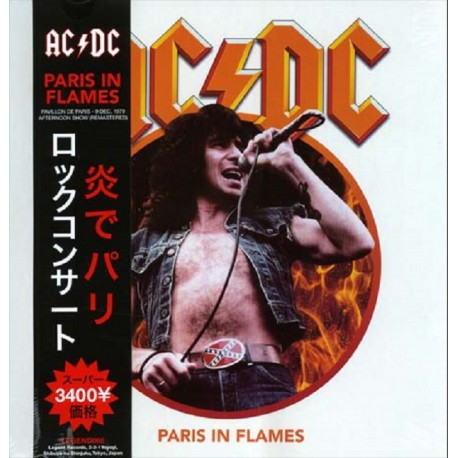 AC/DC ‎– Paris In Flames - LP Vinyl - Coloured White with Booklet and OBI