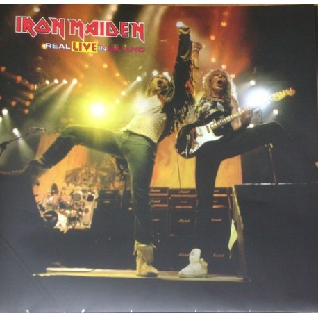 Iron Maiden ‎– Real Live In Milano - Double LP Vinyl - Coloured Blue + Poster - Numbered