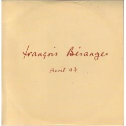 Béranger François - Avril 97 - CD Single Promo 4 Tracks