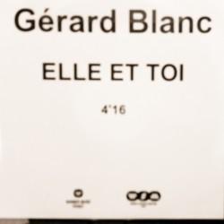 Blanc Gérard - Elle Et Toi - CDr Single Promo
