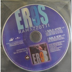 Eros Ramazzotti - Solo Ayer - Solo Ieri - CD Single - Promo Spain
