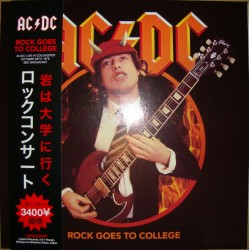AC/DC ‎– Rock Goes To College - Coloured Vinyl - LP Album with OBI and Tourbook