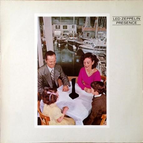 Led Zeppelin – Presence - LP Vinyl Album - Coloured Blue Green Marbled