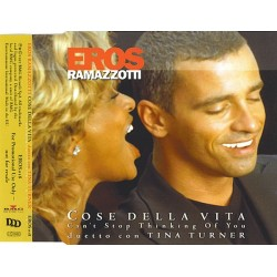 Eros Ramazzotti Duetto Con Tina Turner ‎– Cose Della Vita - Can't Stop Thinking Of You - CD Maxi Single Promo