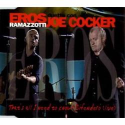 Eros Ramazzotti & Joe Cocker – That's All I Need To Know - Difendero (Live) - CD Maxi Single Promo