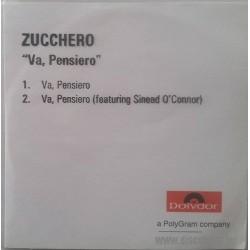Zucchero Sugar Fornaciari & Sinead O' Connor - Va, Pensiero - CDr Single Promo