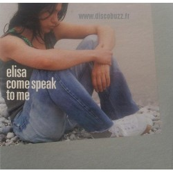 Elisa Toffoli ‎– Come Speak To Me - CD Single Promo - Cardboard Sleeve