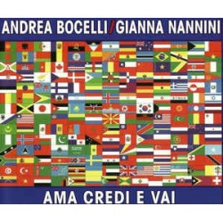 Andrea Bocelli & Gianna Nannini ‎– Ama Credi E Vai - CD Maxi Single