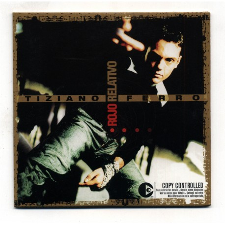 Tiziano Ferro - Rojo Relativo - CD Single Promo - Mexico - Cardboard Sleeve