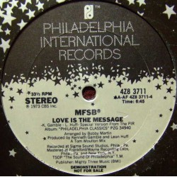 MFSB ‎– TSOP (The Sound Of Philadelphia) / Love Is The Message - Maxi Vinyl USA Promo